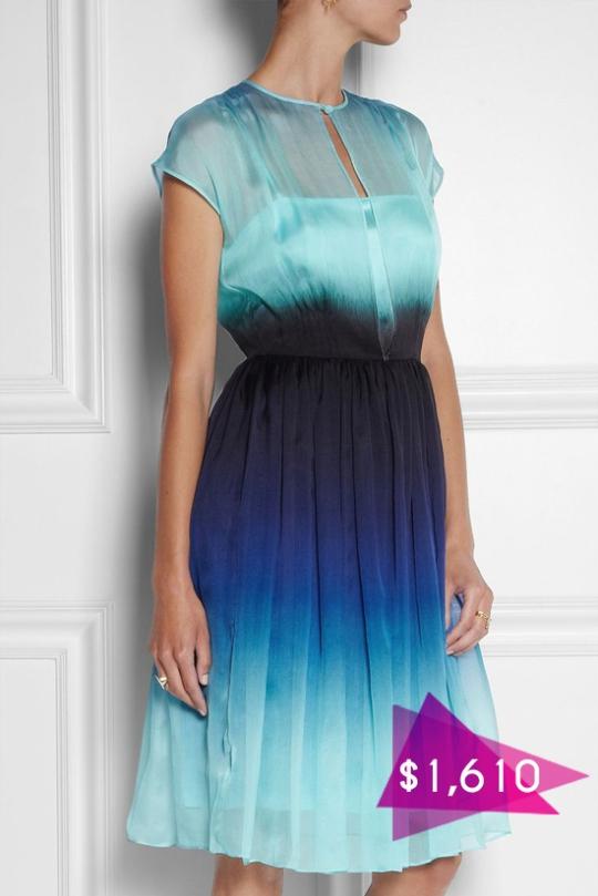 Платья из ткани деграде